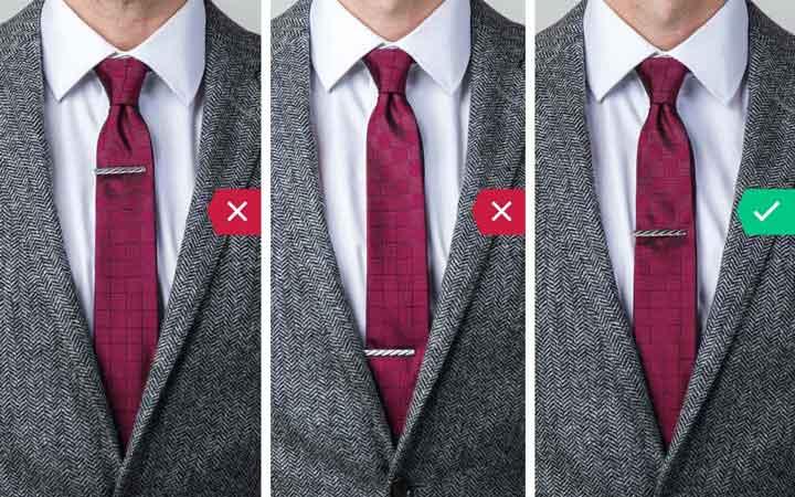 گیره کراوات - اشتباه رایج در نحوه لباس پوشیدن مردان