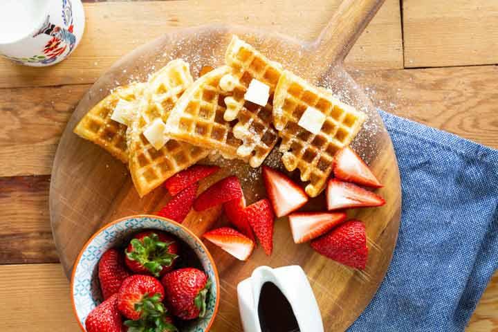 صبحانه وافل برای رژیم تابستانی