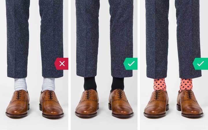 جوراب ورزشی - اشتباه رایج در نحوه لباس پوشیدن مردان