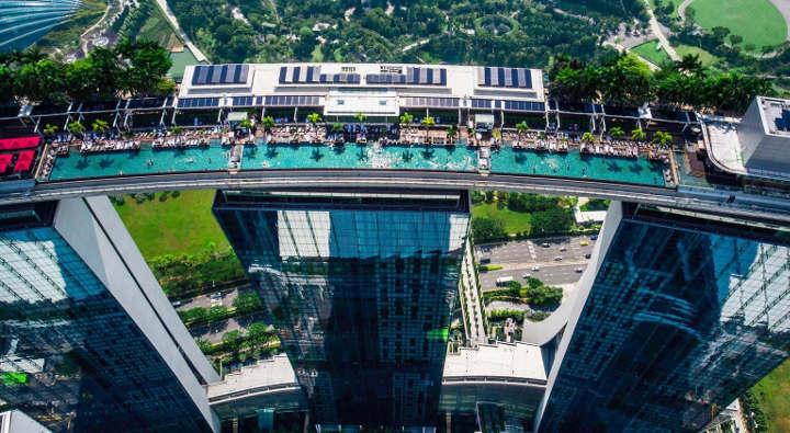 مارینا بِی سَندز-زیباترین استخرهای هتل ها در دنیا