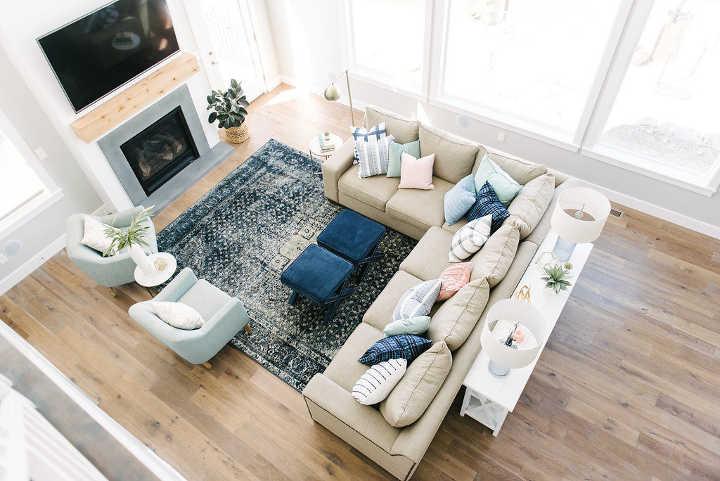 تغییر چیدمان اثاثیهٔ خانه - تقسیم کردن فضای اتاق به دو قسمت
