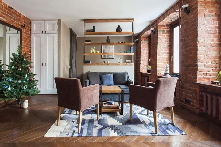 پهن کردن فرش و قالیچه - تقسیم کردن فضای اتاق به دو قسمت