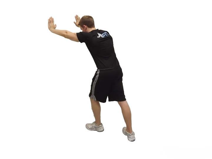 حرکت کششیِ ایستادهٔ دوقلوی ساق پا-حرکت کششی زانو
