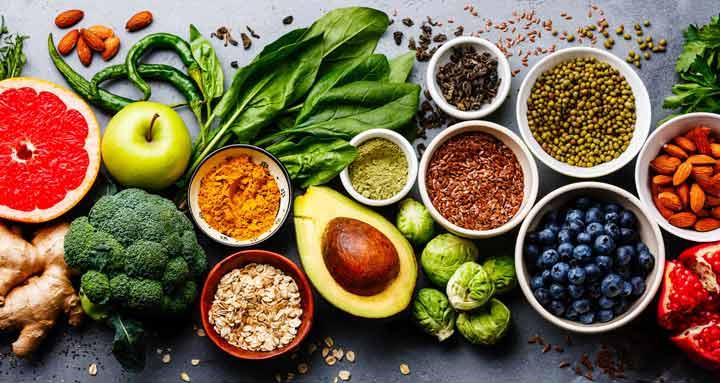 زردی دندان، میوه و سبزی