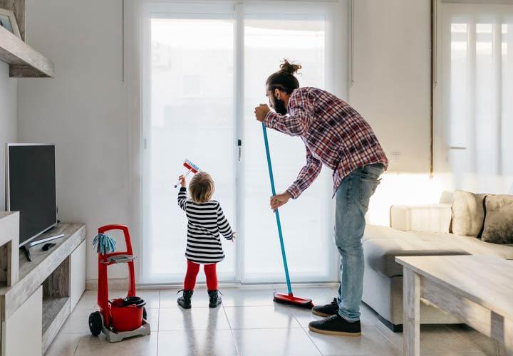ترفندهای یک دقیقه ای برای تمیز کردن خانه - تمیزکردن خانه را به فعالیتی سرگرم کننده تبدیل بکنید.