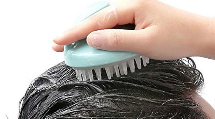 ماساژ سر با ابزار ماساژ - ماساژ سر برای رشد مو