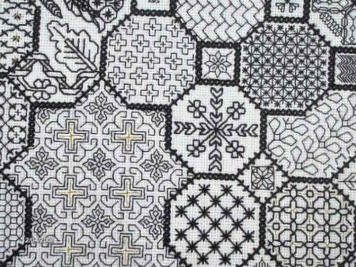 گلدوزی در خانه - سیاه و سفید