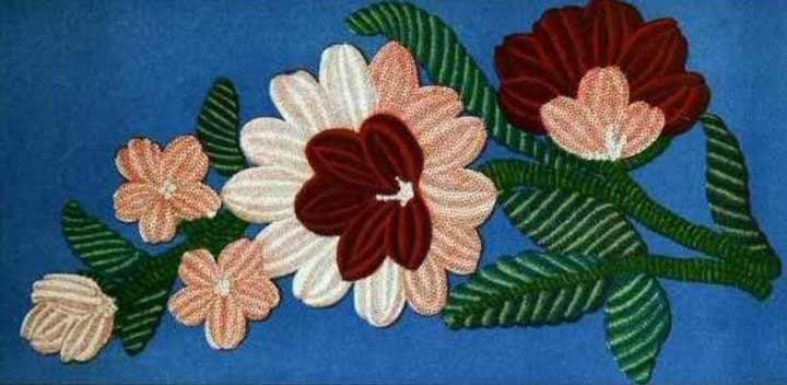 گلدوزی در خانه - رنگهای زیبا