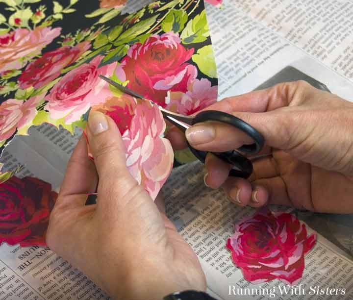 آموزش دکوپاژ روی چوب - تصاویر زیبای گل