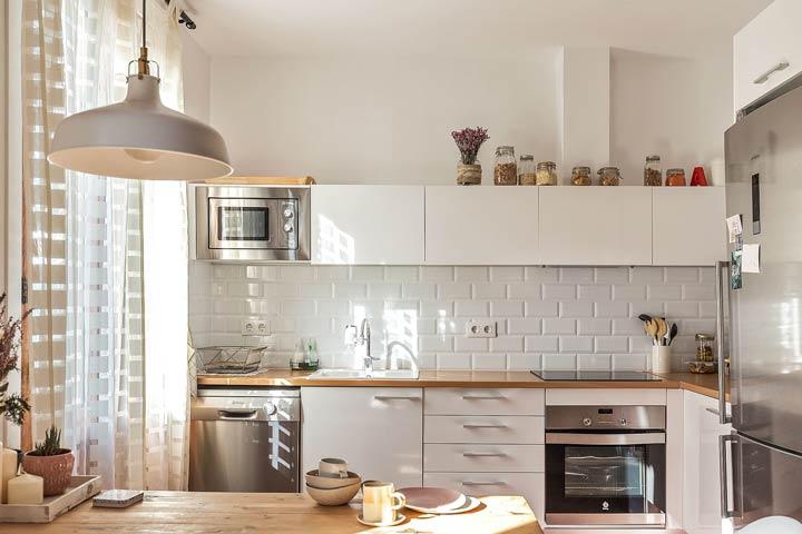 پرده آشپزخانه مناسب دکوراسیون اسکاندیناویایی