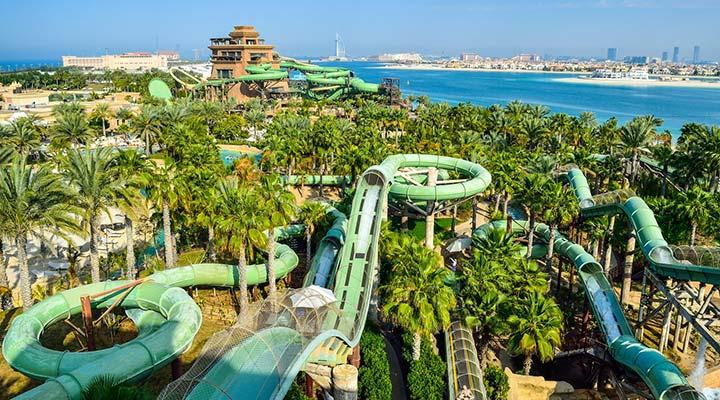پارک آبی آکواونچور در دبی یکی از بهترین پارک های آبی دنیا
