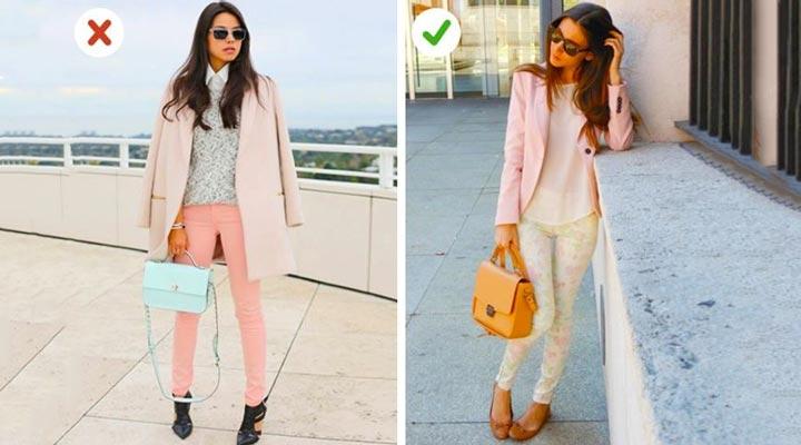 انتخاب اکسسوری - لباس رنگ پاستلی را با کفش تیره نپوشید