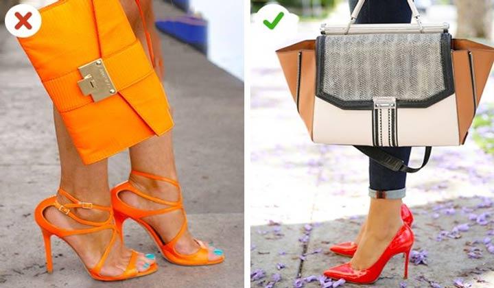 انتخاب اکسسوری - کیف و کفش حتما نباید همرنگ باشند