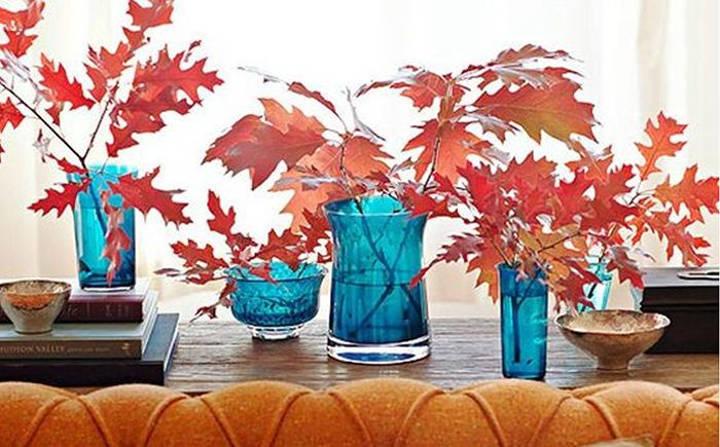 دکوراسیون پاییزی خانه با استفاده از تضاد رنگهای سرد و گرم