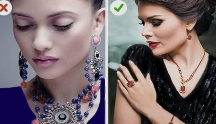 انتخاب اکسسوری - از ست جواهرات با اندازه بزرگ استفاده نکنید