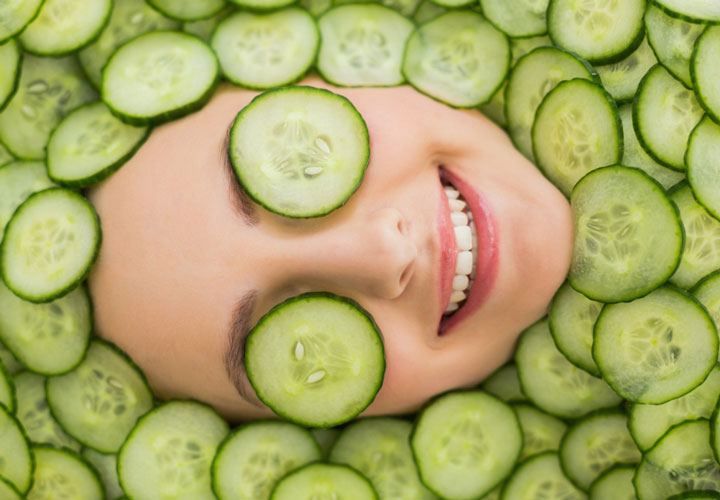 استفاده از خیار برای درمان جوش صورت