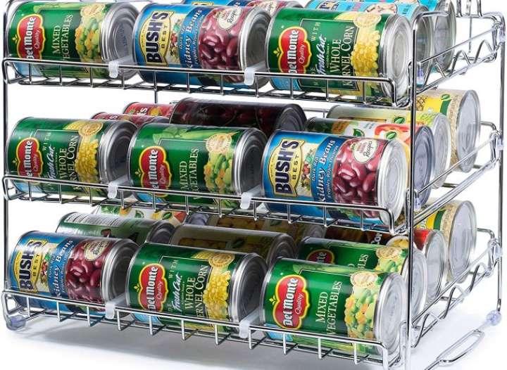 استفاده از قفسه قوطی کنسرو - تمیز کردن آشپزخانه