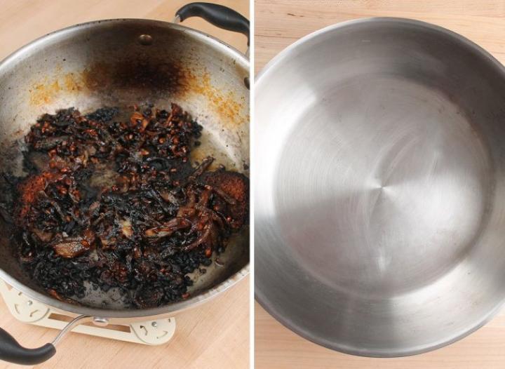 تمیز کردن قابلمه سوخته - تمیز کردن آشپزخانه