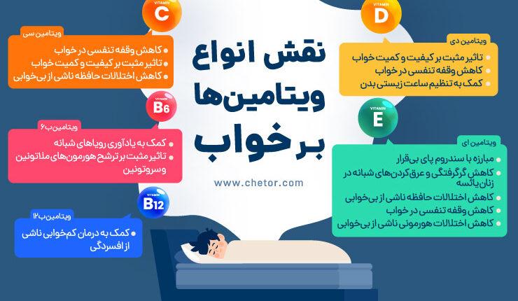 نقش انواع ویتامین ها بر خواب