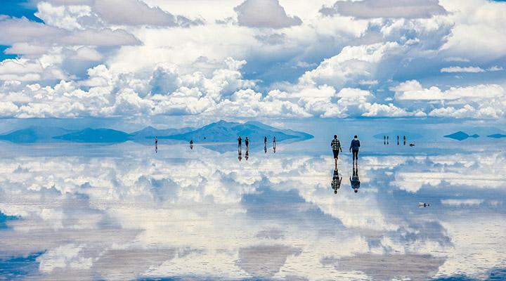 بزرگترین دریاچه نمک آینهای جهان در بولیوی - عجیبترین جاذبههای طبیعی دنیا