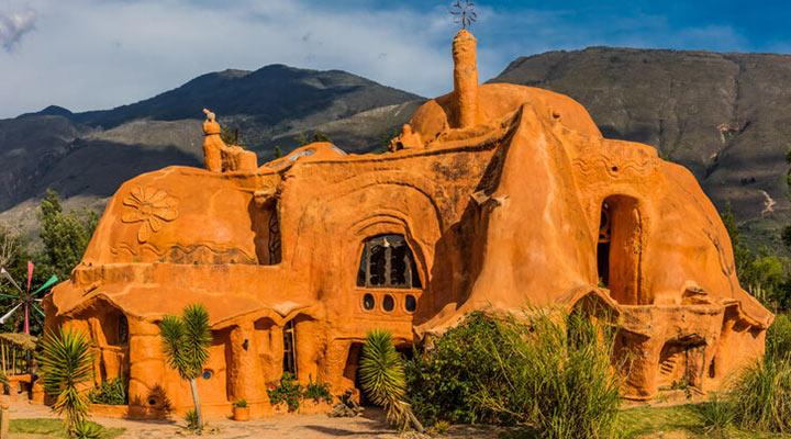 عجیب ترین سازه های معماری دنیا - خانه سفالین (Casa Terracota)، کلمبیا