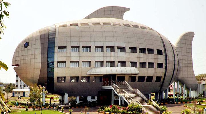 عجیب ترین سازه های معماری دنیا - مرکز بینالمللی توسعه شیلات در حیدرآباد هند