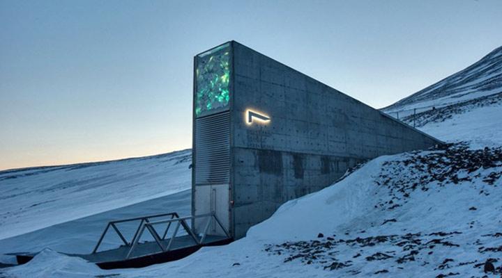 عجیب ترین سازه های معماری دنیا - خزانه جهانی بذر سوالبارد، نروژ