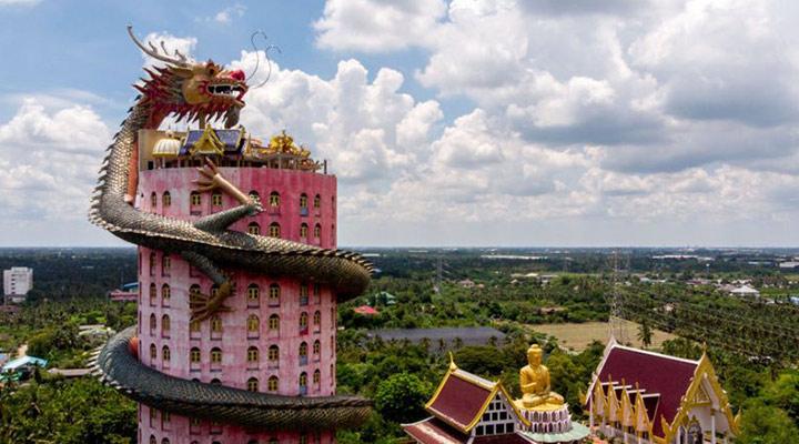 عجیب ترین سازه های معماری دنیا - معبد Wat Samphran در Nakhon Pathom، تایلند
