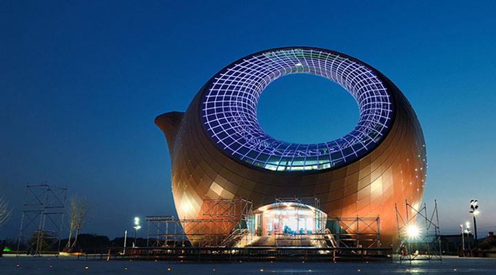 عجیب ترین سازه های معماری دنیا - نمایشگاه Wuxi Wanda  در مرکز فرهنگی و گردشگری شهر ووشی چین