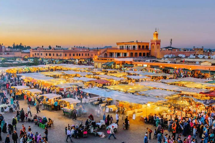شهر مراکش از جاذبه های گردشگری قاره آفریقا