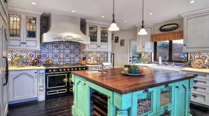 آشپزخانه با رنگهای زنده - ایدههایی برای چیدمان زیبا در آشپزخانه