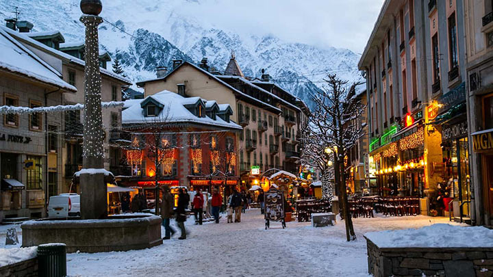 Mont Blanc area of France