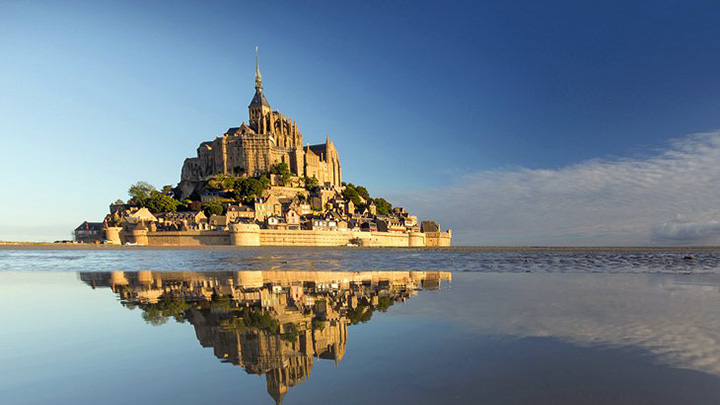 The island of Mont-Saint-Michel is one of the sights of France