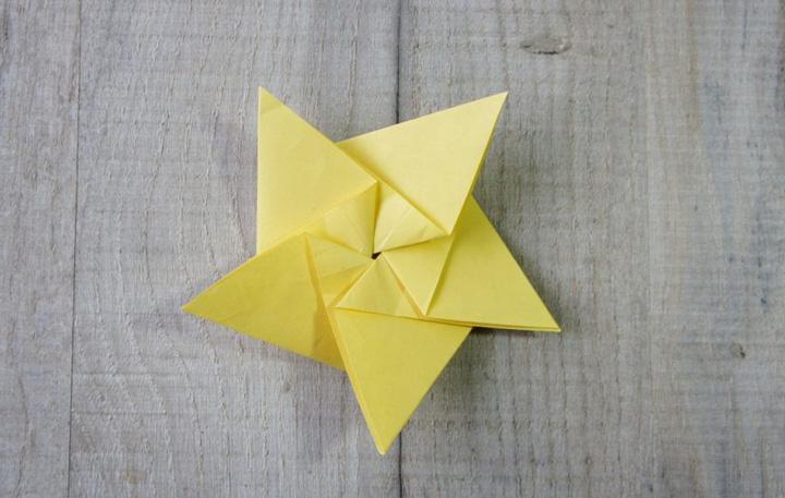 اوریگامی ستاره مرحله ۵