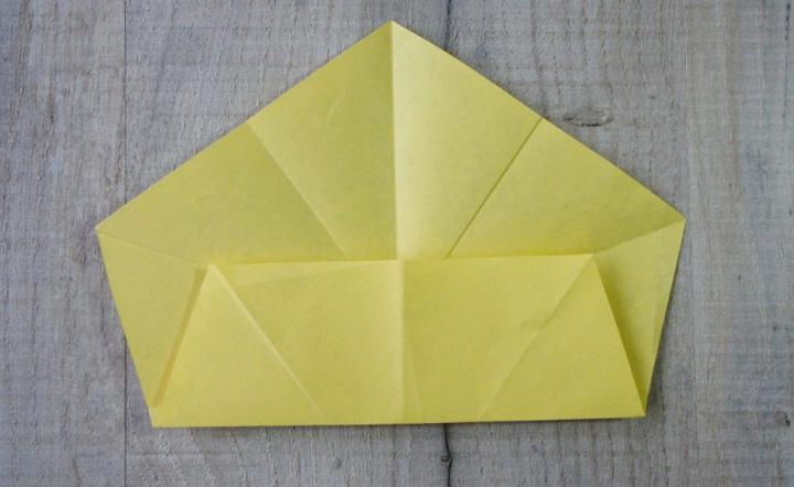 اوریگامی ستاره مرحله ۲