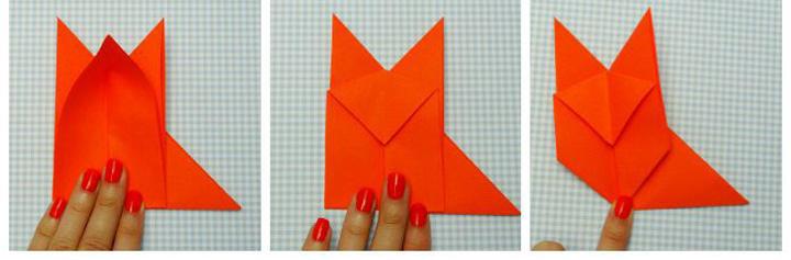 اوریگامی روباه مرحله ۳