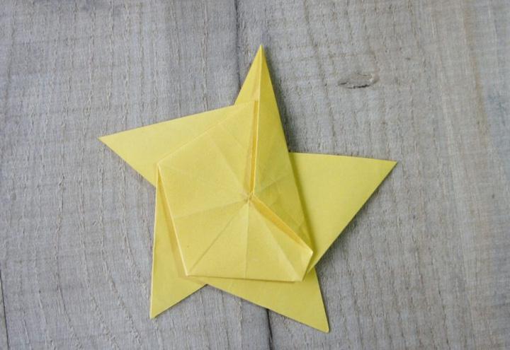 اوریگامی ستاره مرحله ۶