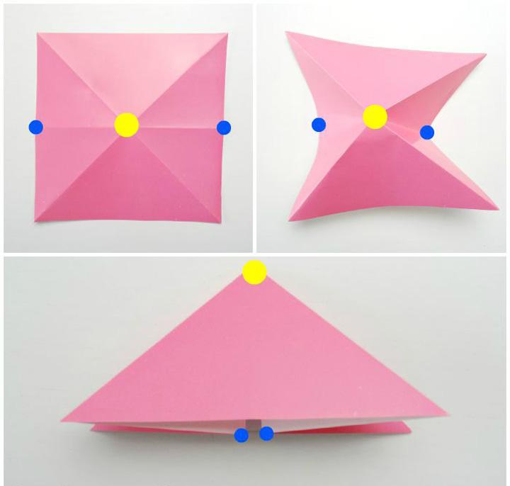 اوریگامی ماهی مرحله ۱