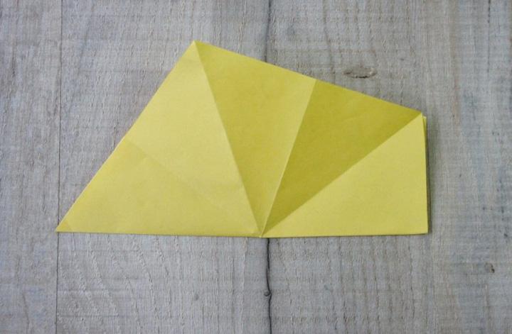اوریگامی ستاره مرحله ۱