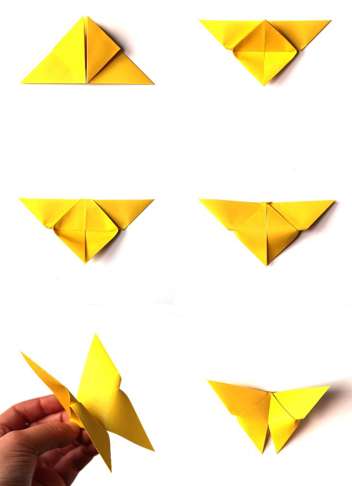 اوریگامی پروانه مرحله ۲