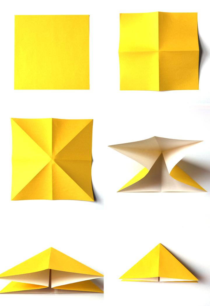 اوریگامی پروانه مرحله ۱