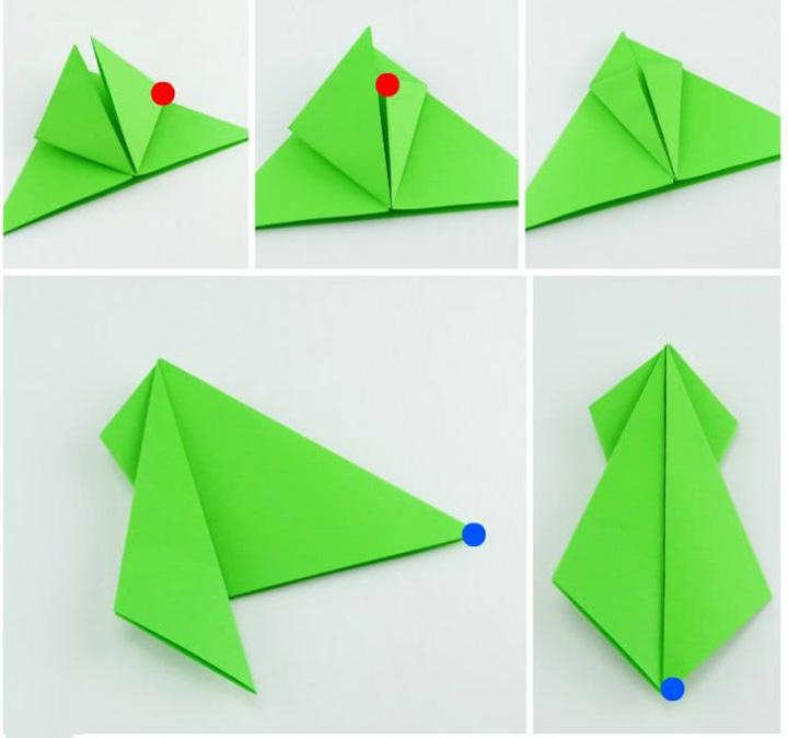 اوریگامی ماهی مرحله ۲