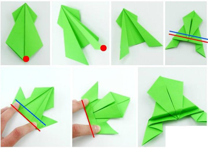 اوریگامی ماهی مرحله ۳