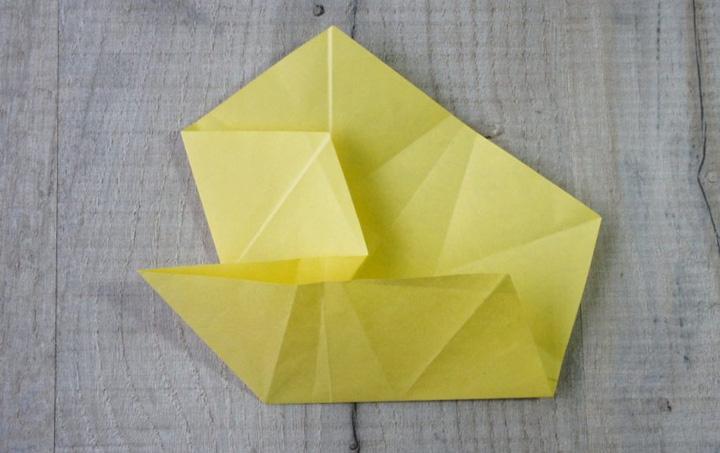 اوریگامی ستاره مرحله ۳