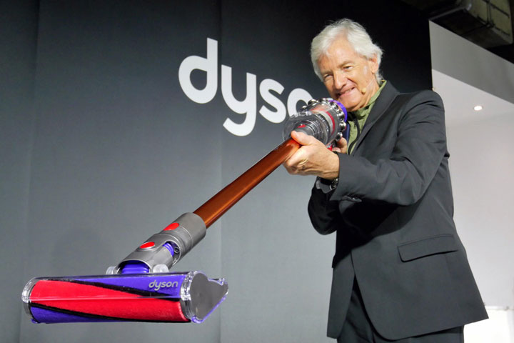 James Dyson, the inventor of the bagless vacuum cleaner