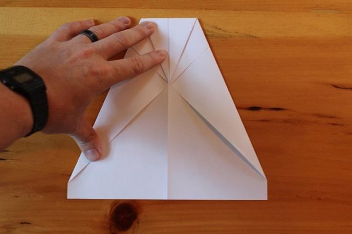 اوریگامی هواپیما مرحله ۴