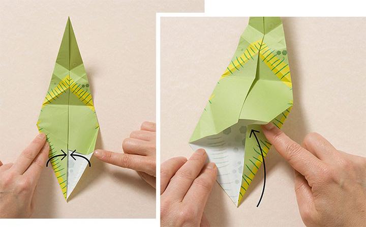 اوریگامی دایناسور مرحله ۶