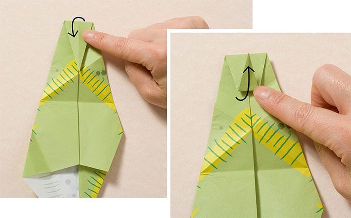 اوریگامی دایناسور مرحله ۷