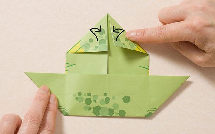 اوریگامی دایناسور مرحله ۱۵
