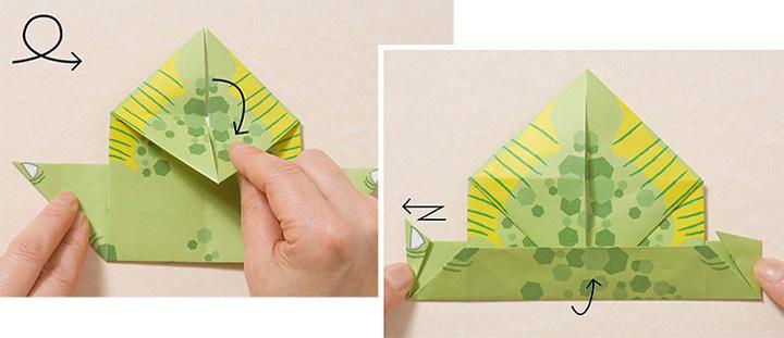اوریگامی دایناسور مرحله ۱۷